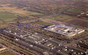 Aerial view of Central Milton Keynes