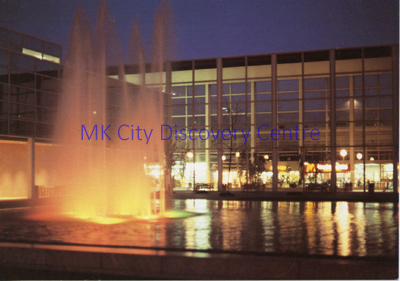 Queen's Court at Night | © Milton Keynes Development Corporation, Crown Copyright. Licensed under the Open Government Licence v3.0