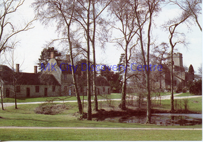 Church and Almshouses, Linford Manor | © Milton Keynes Development Corporation, Crown Copyright. Licensed under the Open Government Licence v3.0