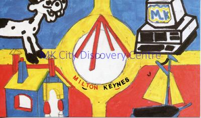 Milton Keynes - roundabout | © Milton Keynes Development Corporation, Crown Copyright. Licensed under the Open Government Licence v3.0