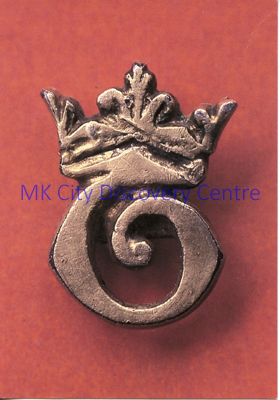 Medieval Silver Gilt Pilgrim's Badge found At Bradwell Abbey | © Milton Keynes Development Corporation, Crown Copyright. Licensed under the Open Government Licence v3.0