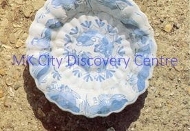 17th Century Fluted Delft Bowl