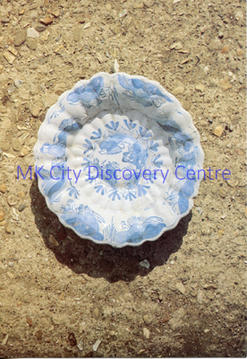 17th Century Fluted Delft Bowl | © Milton Keynes Development Corporation, Crown Copyright. Licensed under the Open Government Licence v3.0