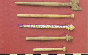 Roman Bone Pins from Roman Villa Excavation [Bancroft]