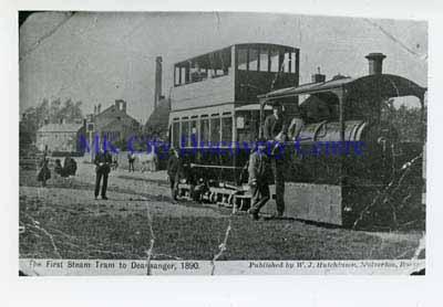 The First Steam Tram to Deanshanger, 1890