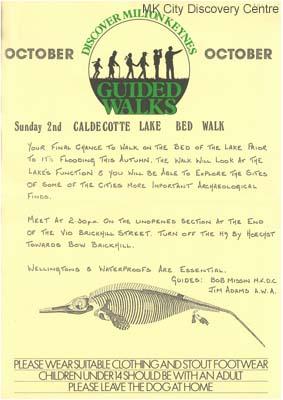Discover Milton Keynes - Caldecotte Lake Bed walk | © Milton Keynes Development Corporation, Crown Copyright. Licensed under the Open Government Licence v3.0