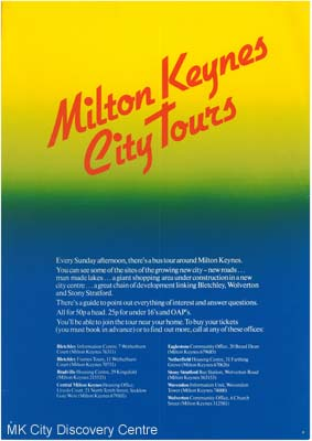 Milton Keynes City Tours | © Milton Keynes Development Corporation, Crown Copyright. Licensed under the Open Government Licence v3.0