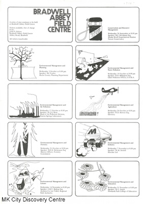 Nine Seminars on Environmental & Resource Management | © Milton Keynes City Discovery Centre