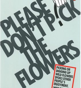 Please don't pick the flowers | © Milton Keynes Development Corporation, Crown Copyright. Licensed under the Open Government Licence v3.0