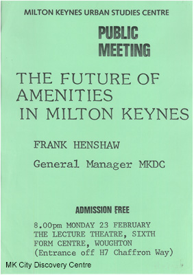 The Future of Amenities in Milton Keynes | © Milton Keynes City Discovery Centre