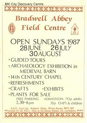 Bradwell Abbey Field Centre Open Sundays | © Milton Keynes City Discovery Centre