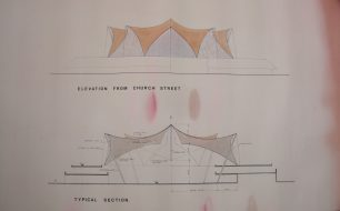 Wolverton Agora Folded Tent Roof Elevations & Sections
